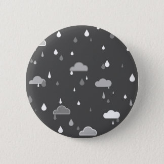 Grijze Regens Ronde Button 5,7 Cm