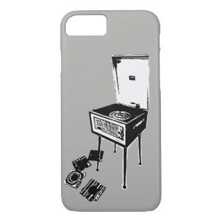Grijze Retro iPhone 7 van de Platenspeler Hoesje
