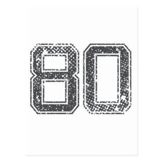 Grijze Sporten Jersey #80 Briefkaart