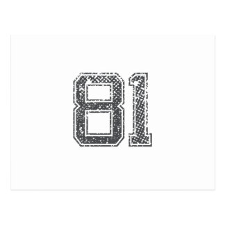 Grijze Sporten Jersey #81 Briefkaart
