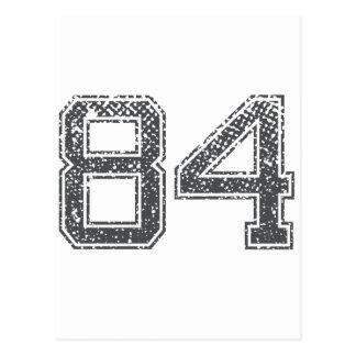 Grijze Sporten Jersey #84 Briefkaart