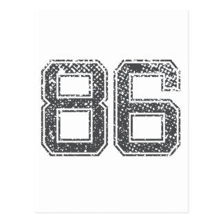 Grijze Sporten Jersey #86 Briefkaart