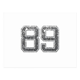 Grijze Sporten Jersey #89 Briefkaart