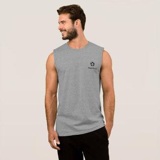 Grijze T-shirt zonder Sleeves w/Logo