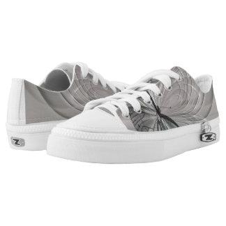 Grijze Tennisschoenen met Vlinder Low Top Schoenen