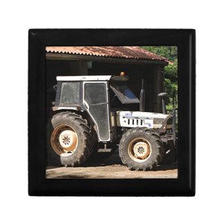 Grijze tractor, Gr Camino, Spanje Decoratiedoosje