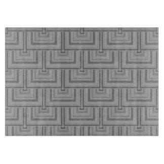 Grijze vierkante schalen snijplank