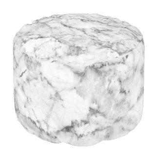 Grijze & Witte Marmeren Druk Faux Poef