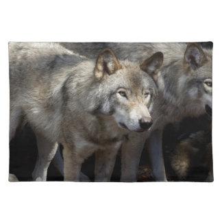 Grijze wolf status placemat