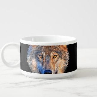 Grijze wolf - wolfsgezicht kom