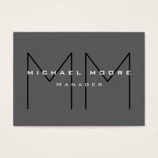 Grijze Zwarte Gewaagde Moderne Minimalistisch van Visitekaartjes