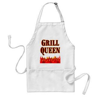 Grill de Schort van Koningin Funny BBQ Spreuk