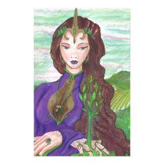 Groeien van het Plant van de Aarde van de Prinses Briefpapier