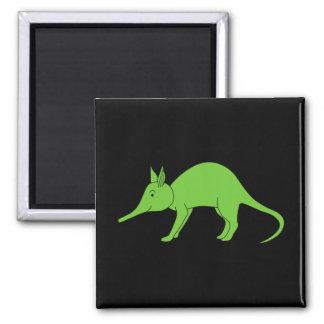 Groen Aardvarken. Het Beeldverhaal van de illustra Koelkast Magneet