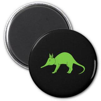 Groen Aardvarken. Het Beeldverhaal van de illustra Ronde Magneet 5,7 Cm