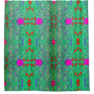 Groen Abstract douchegordijn