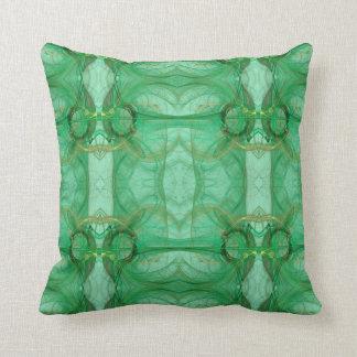 Groen Abstract Fractal Hoofdkussen Sierkussen