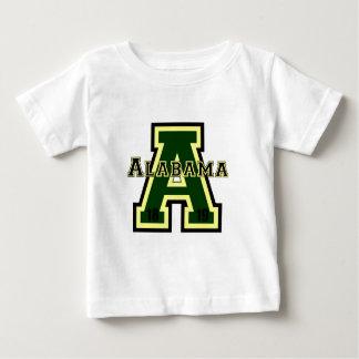 Groen Alabama 'a' Baby T Shirts