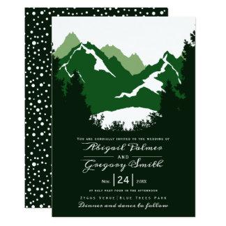 Groen bergen en van naaldboombomen huwelijk kaart