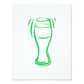Groen Bier 10,8x13,9 Uitnodiging Kaart