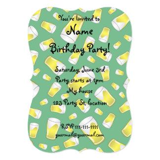 Groen bier 12,7x17,8 uitnodiging kaart
