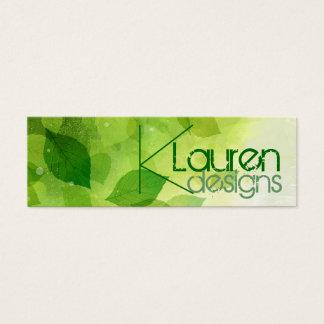 groen bladeren mager visitekaartje mini visitekaartjes