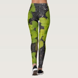 Groen bladontwerp leggings