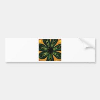 groen bloemblaadje stemm bumpersticker