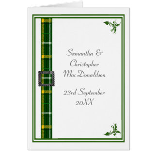 Groen en wit geruite Schotse wollen stoflint 2 Briefkaarten 0