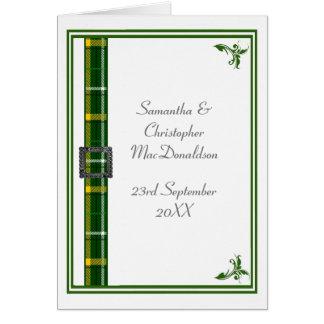 Groen en wit geruite Schotse wollen stoflint 2 Kaart