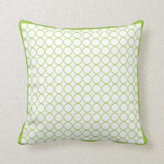 groen en wit modern hoofdkussen sierkussen