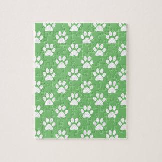 Groen en wit potenpatroon puzzel