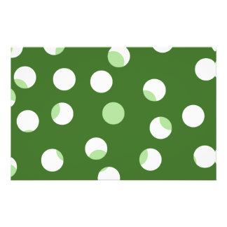 Groen en wit spotty patroon persoonlijke folder