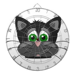 Groen-eyed zwarte Kat Dartbord