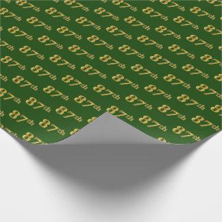 Groen, Gouden 87ste (tachtig-Zevende) Gebeurtenis Inpakpapier