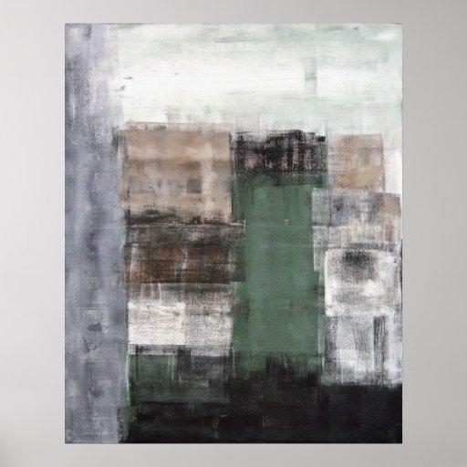 Groen grijs en bruin abstract het schilderen van zazzle - Groen behang van het water ...