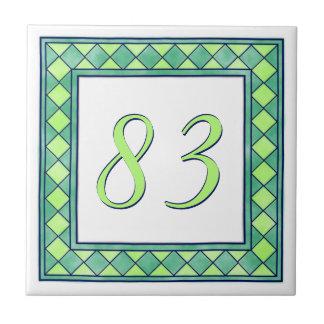Groen Huisnummer Tegeltje