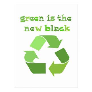 Groen is de nieuwe Zwarte! Briefkaart