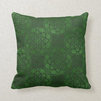 Groen Keltisch mandalahoofdkussen Sierkussen