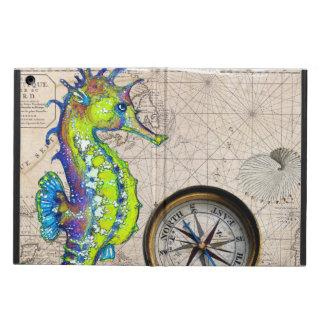 Groen Kompas Seahorse iPad Air Hoesje