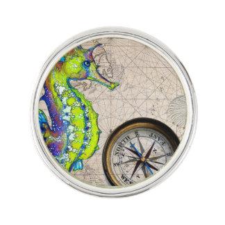 Groen Kompas Seahorse Reverspeldje