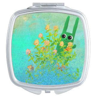 groen konijntje makeup spiegeltje