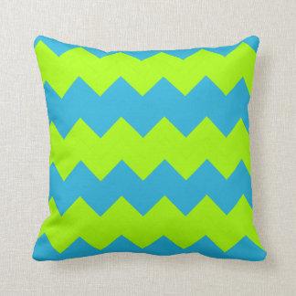 Groen limoen, Zigzag Aqua Sierkussen