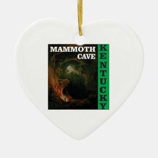 Groen mammoethol Kentucky Keramisch Hart Ornament