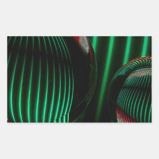 Groen met rood in het glas rechthoekige sticker