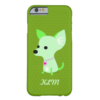 Groen Monogram Chihuahua Barely There iPhone 6 Hoesje