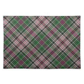 Groen paars zwart geruite Schotse wollen stof Placemat