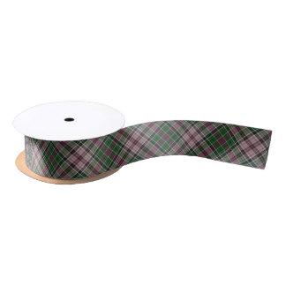 Groen paars zwart geruite Schotse wollen stof Satijnen Lint