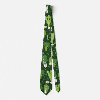 Groen Patroon Veggies Persoonlijke Stropdas