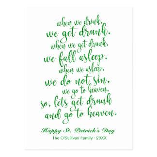 Groen schitter St. Patrick van de Toost van het Briefkaart